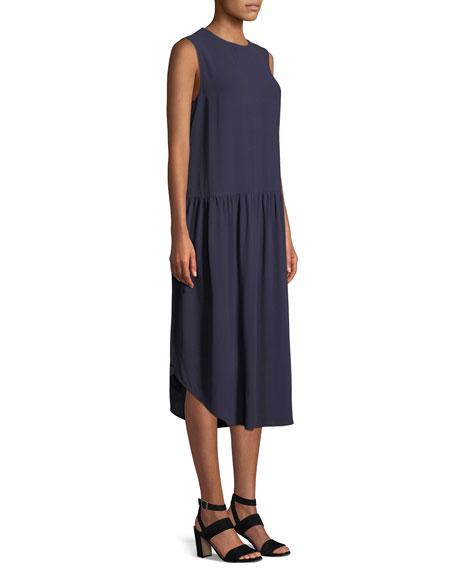 Silk Georgette Drop-Waist Dress