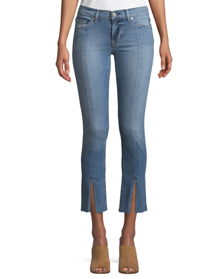 Hudson Nico M.R Straight-Leg Ankle Jeans w/ Front
