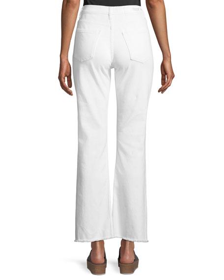 Stella High-Waist Wide-Leg Jeans w/ Fray Hem