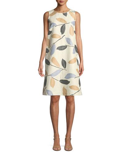 Hana Laurel-on-Cotton Shift Dress