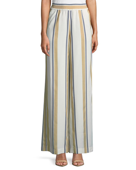 Lafayette 148 New York Hester Vienna Striped Wide-Leg