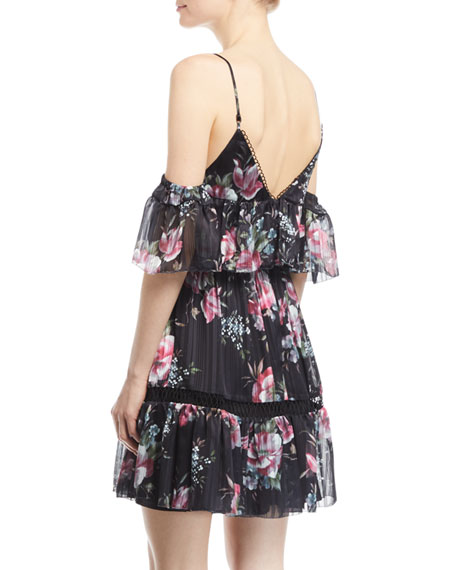 Belonging Floral-Print Georgette Mini Dress