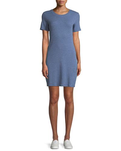 Cherry B3 Stirling Rib-Knit Shirt Dress