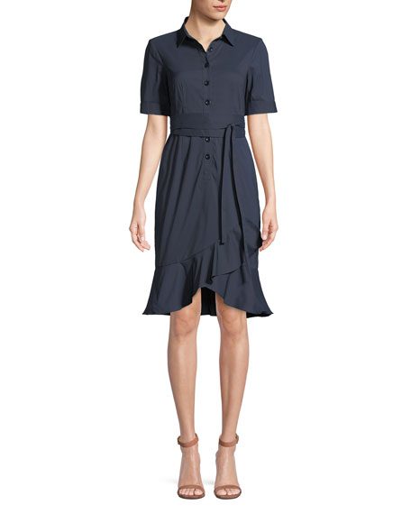 Rehearsal Short-Sleeve Shirt Dress