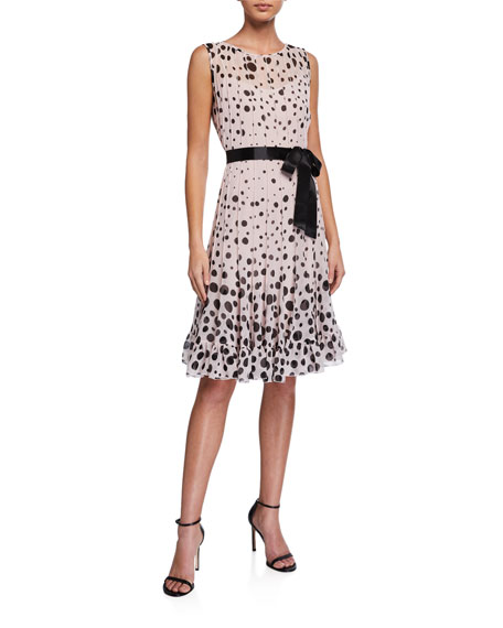 Rickie Freeman for Teri Jon Sleeveless Chiffon Polka