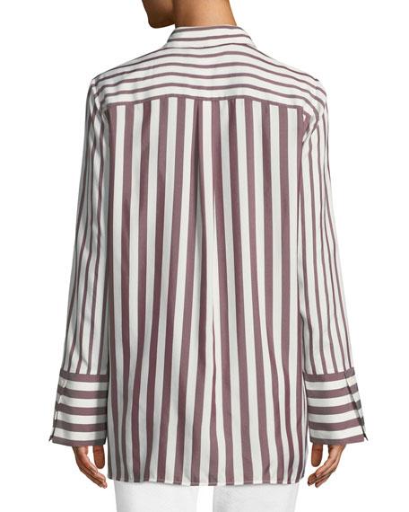 Waylon Showcase Stripe Silk Blouse