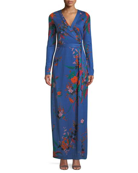 Diane von Furstenberg New Julian Floral-Print Silk Wrap