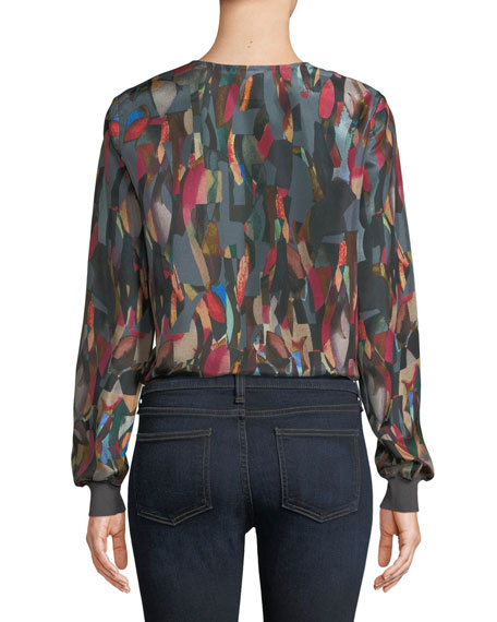Roxy Aesthetic Textured Silk Blouse