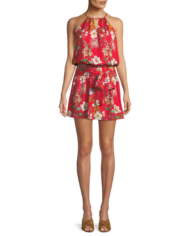 cd400f374bec Parker Larissa Sleeveless Floral-Print Silk Dress | Neiman Marcus