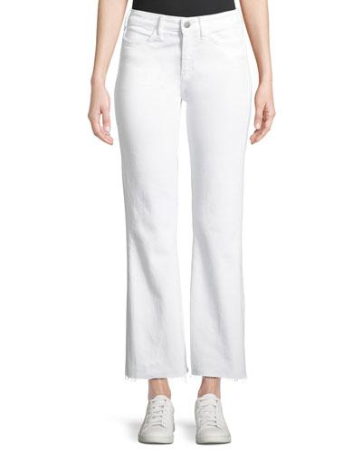 Lou Flare-Leg Cropped Jeans