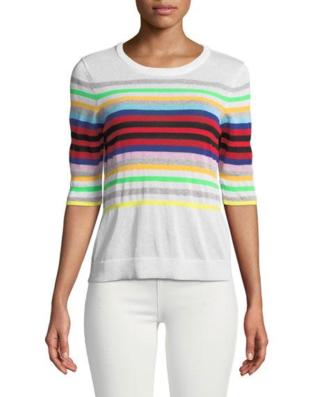 Rainbow Stripe Pullover Sweater