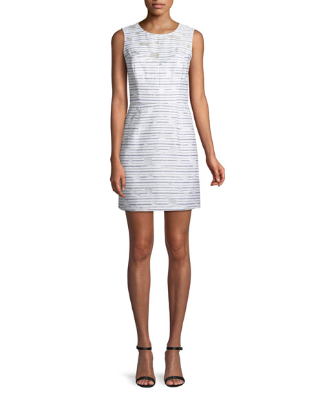 Milly Nina Striped Sleeveless Sheath Dress