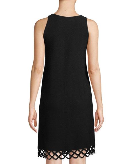 Eyelet-Trim Shift Dress