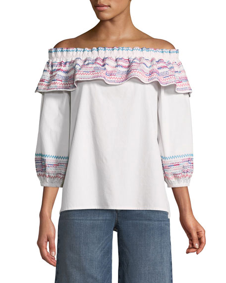 Parker Jenay Off-the-Shoulder Blouse