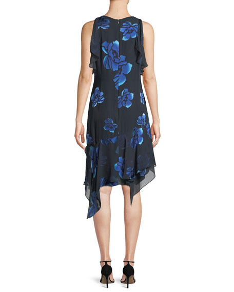 Image 2 of 4: Elie Tahari Serenity Floral-Burnout Ruffled Dress