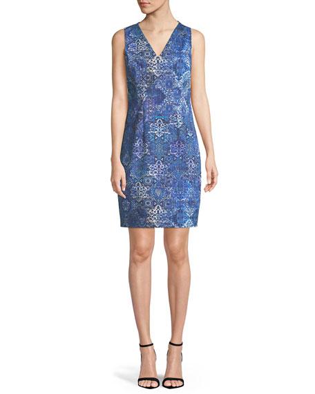 Emory Graphic-Print Sleeveless Dress