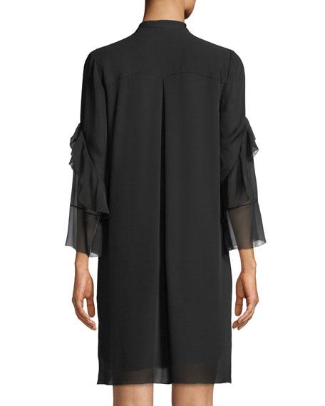 Sawyer Ruffled Silk Shirt Dress