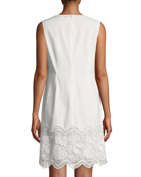 Camryn Floral-Embroidered Cotton Dress