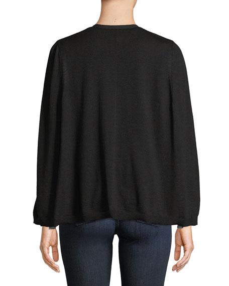 Brette Split-Sleeve Cardigan Sweater