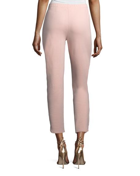 Joan Vass Petite Ankle Pants w/ Notch Detail