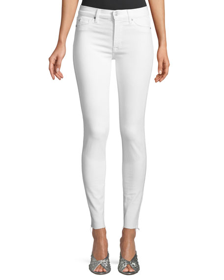 Hudson Barbara High-Waist Super-Skinny Ankle Jeans with Raw