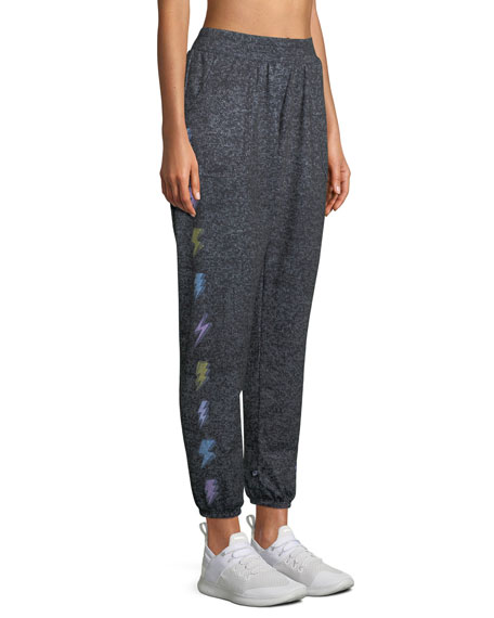 Terez Printed Heather Jogger Pants