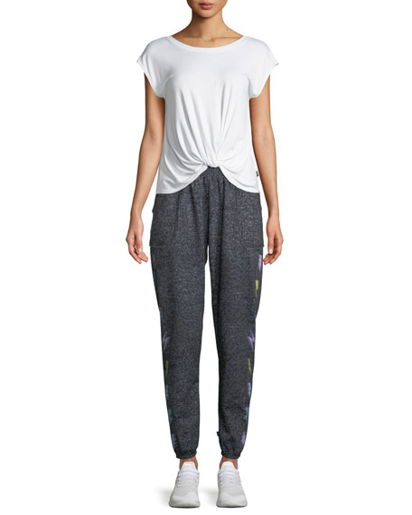 Printed Heather Jogger Pants