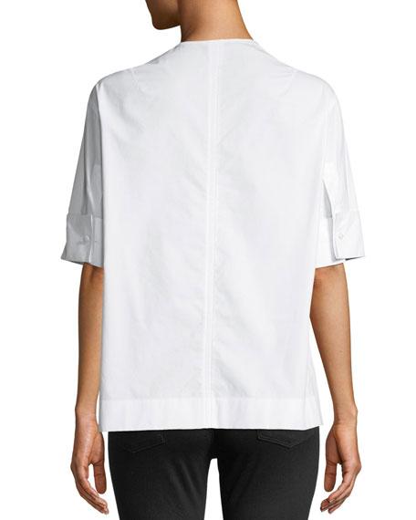 Briar Quarter-Zip Poplin Shirt