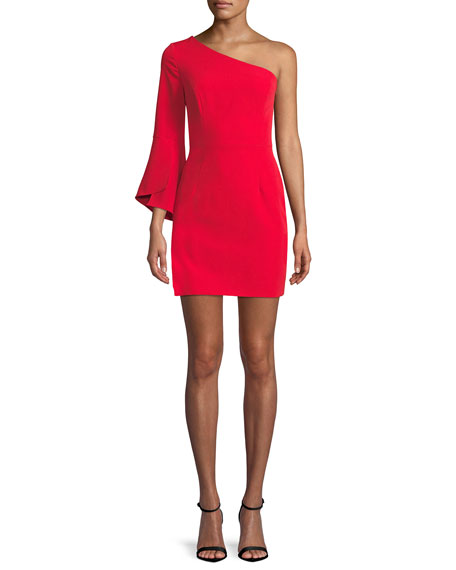 Milly Sandrine One-Sleeve Sheath Dress