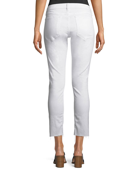 Image 2 of 3: Rag & Bone Dre Mid-Rise Cropped Skinny Stretch-Twill Jeans