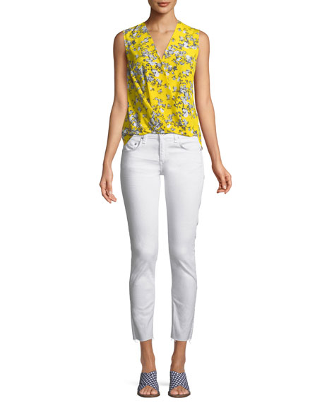 Image 3 of 3: Rag & Bone Dre Mid-Rise Cropped Skinny Stretch-Twill Jeans