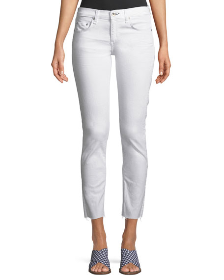 Image 1 of 3: Rag & Bone Dre Mid-Rise Cropped Skinny Stretch-Twill Jeans