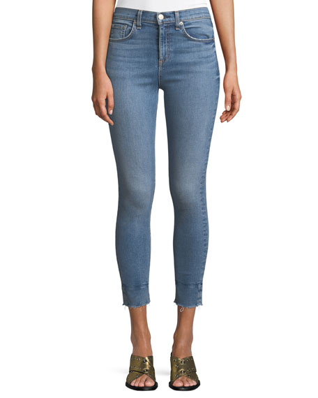 Image 1 of 3: High-Rise Ankle Skinny Jeans