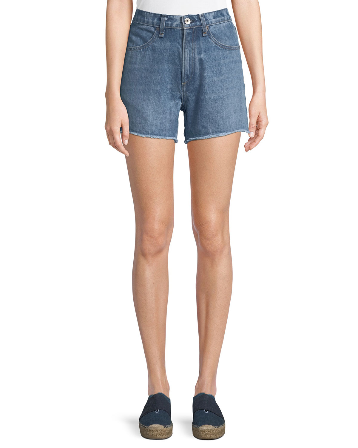 4e7e623d13 Rag & Bone Torti High-Rise Denim Shorts | Neiman Marcus