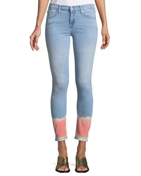 7 For All Mankind The Skinny Crop Jeans w/ Tie-Dye