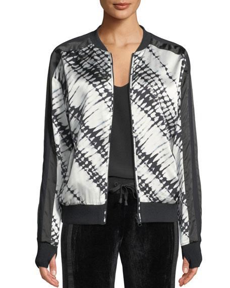 Blanc Noir Reversible Printed Silk Bomber Jacket