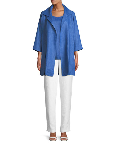 Lanai Linen Topper Jacket, Plus Size