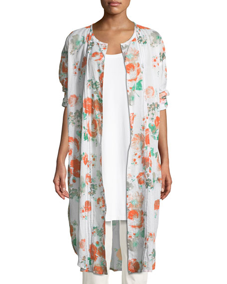 Masai Narelle Floral-Print Button-Front Tunic