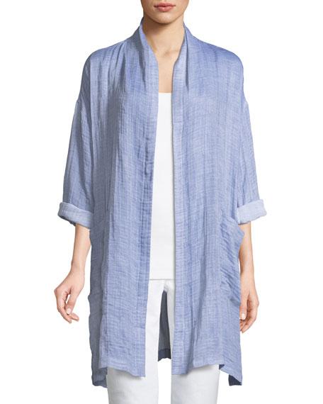 Eileen Fisher Crinkle Gauze Kimono Coat