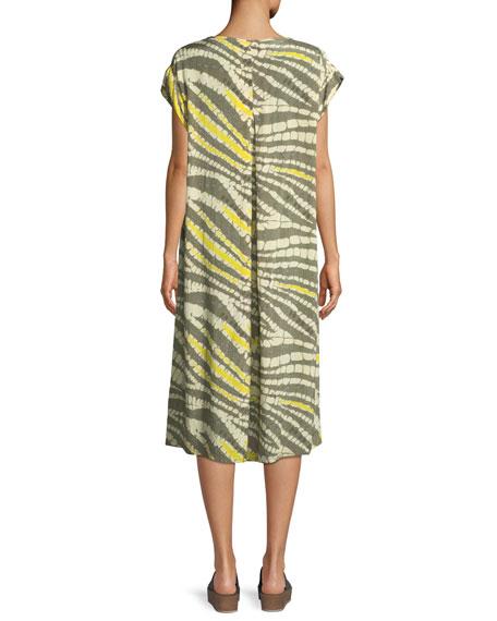 Nan Abstract-Print Short-Sleeve Dress