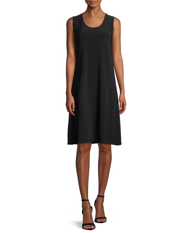 Plus Size Scoop-Neck Stretch Knit Dress