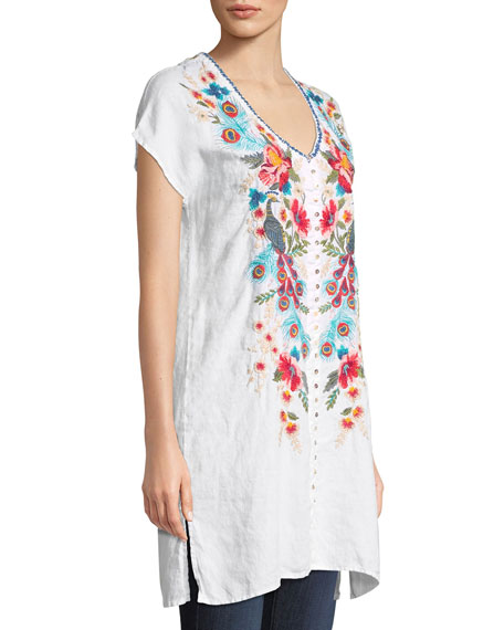 Vernazza Embroidered Tunic Dress, Petite
