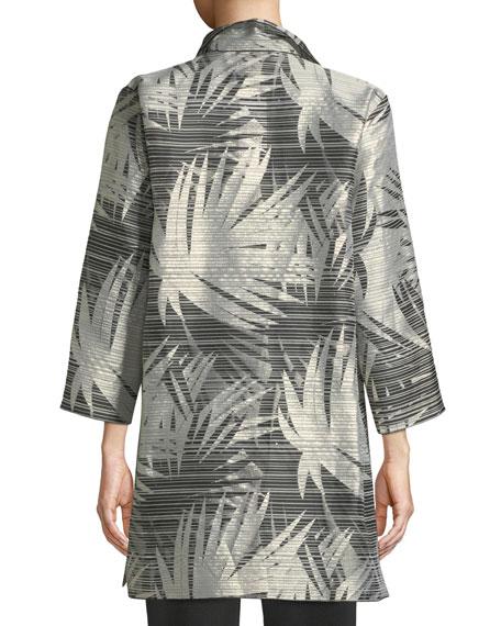 Caroline Rose Petite Shimmering Palms Shirt Jacket
