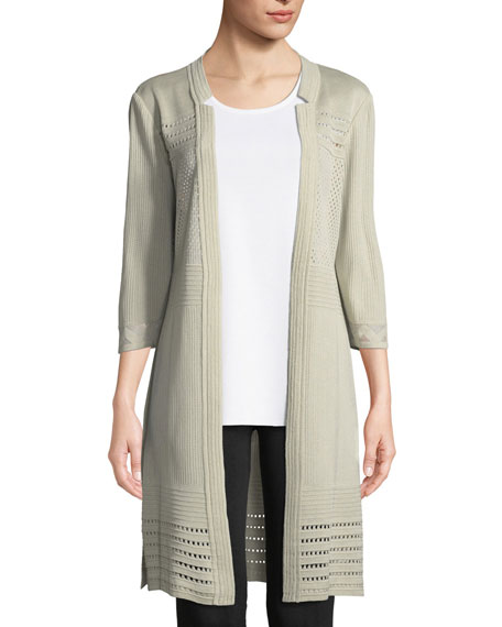 Misook 3/4-Sleeve Notched-Lapel Topper Jacket, Petite and