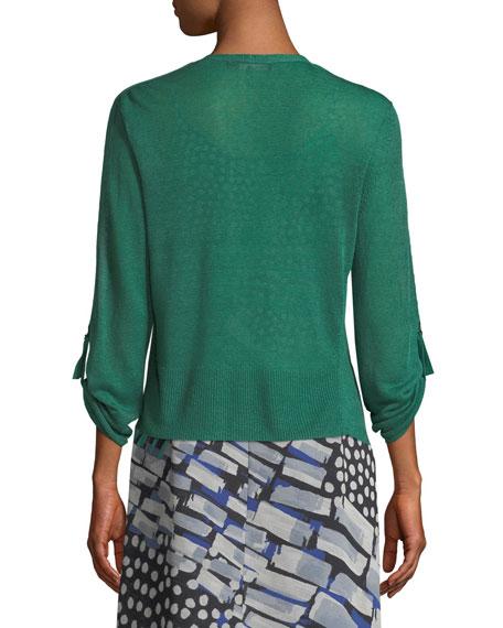 Take Comfort Tab-Sleeve Four-Way Cardigan