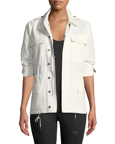 Kayak Mili Embroidered Zip-Front Utility Jacket