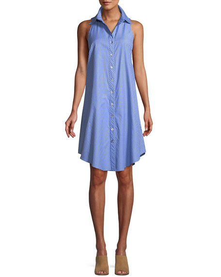 Finley Preppy Check Sleeveless Swing Dress