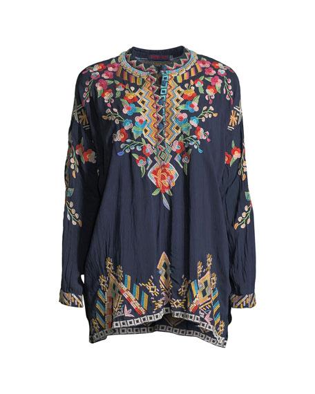 Plus Size Jessa Embroidered Georgette Tunic