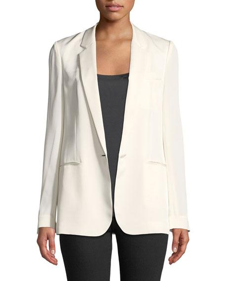 Grinson Modern Silk Georgette Blazer