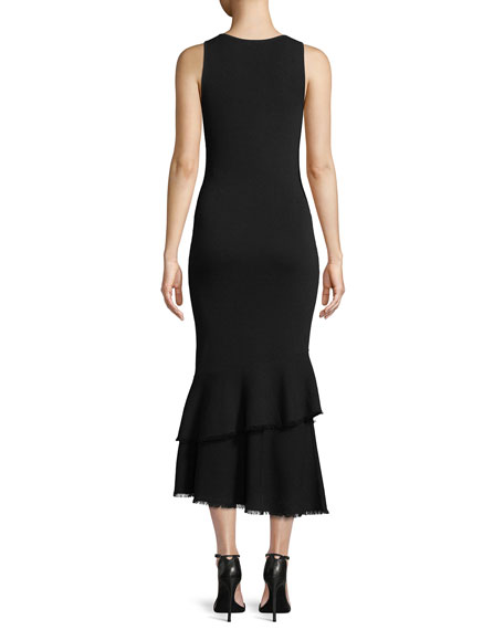 Nilimary Prosecco Knit Midi Dress